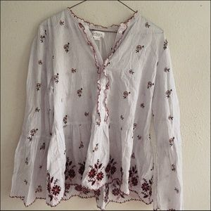 boho anthropologie blouse